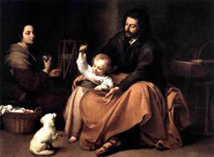 The Holy Family with the Little Bird - Bartolome Esteban Murillo